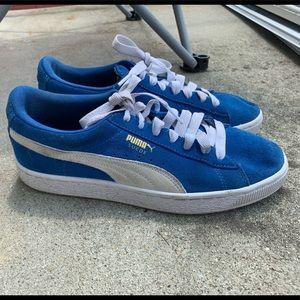 New Blue Puma Suedes